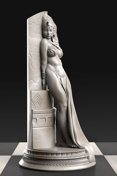 Egyptian Queen 6 Troy Oz Silver Statue