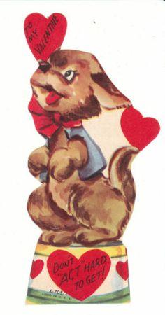Vintage Valentine Card Terrier Dog Performs Die Cut Made in USA | eBay