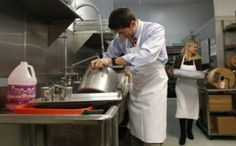 Paul Ryan pretends to care about a soup kitchen, leaves after several minutes.