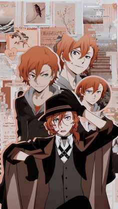 Wallpaper W, Bungou Stray Dogs Wallpaper, Cute Anime Wallpaper, Bungou Stray Dogs Chuya, Stray Dogs Anime, Vintage Anime, Anime Collage, Japon Illustration, Cute Anime Guys