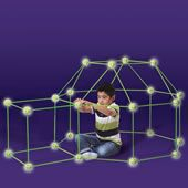 Glow In The Dark Fort Frame Kit -  resulting in a structure so sturdy that children can throw a bed sheet over the roof to complete a private hideaway