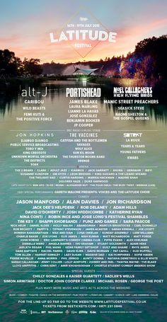 Must Love Festivals 2015! We're excited about the awesome lineup for Latitude Festival this year, one of our picks for this year.