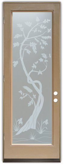 Whether it's front entry doors, or interior glass doors the first focal point of any home, business or office are the doors, and art glass doors by Sans Soucie add a unique element and a level of luxury while providing privacy AND light!   From a little to a lot, the privacy you need is created without sacrificing sunlight.  From simple frosted glass effects to our more extravagant 3D sculpture carving, painted and stained glass and everything in between