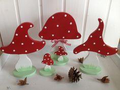 Wohnaccessoires - Zuckersüße Fliegenpilzgruppe - ein Designerstück von --Pilzglueck-- bei DaWanda