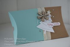 Mikaela Titheridge, Independent Stampin' Up! Demonstrator, The Crafty oIN Pen, Cambridgeshire, UK. Stampin' Creative Blog Hop Gift Packaging. Perfect Pines, Pillow Box and All Day Event Kit Pack. Supplies thecraftyoinkpen.stampinup.net