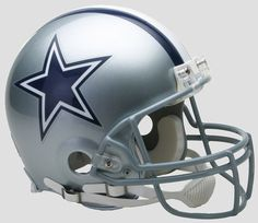 Commemorate your favorite NFL squad with this Authentic Dallas Cowboys Full-Size Helmet from Riddell.Same material as on-field helmet worn by playersAppx. tallDurable polycarbonate shell with complete interior pad setPrinted official dec. Dallas Cowboys Pro Shop, Dallas Cowboys Images, Dallas Cowboys Football, Football Art, Denver Broncos, Pittsburgh Steelers, Kung Fu, Power Rangers, Football Helmets For Sale