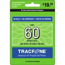 60 Minutes TracFone Prepaid Wireless Top Up AirTime Card USA Code PIN WorldWide Emailed