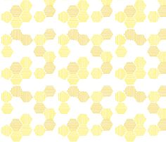 honeycomb fabric by b_a_b_s on Spoonflower - custom fabric Bee Honeycomb, Poster Drawing, Worm Composting, Half Square Triangles, Annual Plants, Custom Fabric, Paper Cutting, Spoonflower, Printing On Fabric