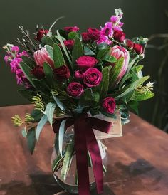 Bright Pink and Red Flowers with Proteas, Pink Roses and Magenta Stock Flowers Red Flowers, Pink Roses, Floral Wedding, Wedding Flowers, Dish Garden, Order Flowers Online, Sympathy Flowers, Vase Arrangements, Floral Foam