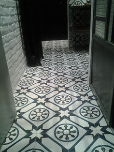 Ateliers Zelij, Projet salle de bain : nos carreaux ciment ref. 304 www.zelij.com