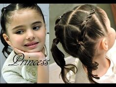 Peinado Infantil de Ligas FACIL    Toddler hairdo for little girsl 2-6 years EASY - YouTube