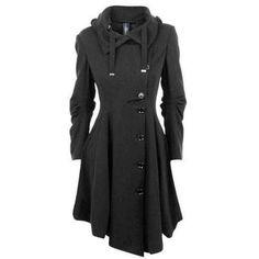 Look Fashion, Winter Fashion, Womens Fashion, Fashion Coat, Ladies Fashion, Fashion Trends, Dress Fashion, Fashion Black, Fashion Clothes