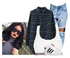"""Untitled #293"" by clarinet4ever ❤ liked on Polyvore featuring Boohoo, Chicnova Fashion, Moschino and adidas"