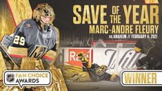 """Vegas Golden Knights on Twitter: """"🌸 For the third consecutive year, Marc-Andre Fleury has won Save of the Year in the #NHLFanChoice Awards!!! 🌸… """" Marc Andre, Vegas Golden Knights, Misfits, Nhl, Hockey, Third, Awards, Baseball Cards, Twitter"""