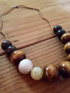 Beaded necklace in Natural on Etsy, $25.00