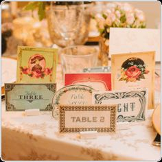 Boho wedding place cards or escort cards. Perfect for a boho, bohemian, gypsy or hipster theme wedding. Eclectic and vintage wedding styling