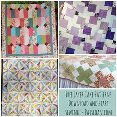 Pat Sloan: Loving Layer Cakes and easy Free Pattern (Pat Sloan Quilt) Quilting Tutorials, Quilting Projects, Sewing Projects, Layer Cake Quilts, Layer Cakes, Layer Cake Patterns, Free Pattern Download, Quilt Making, Fabric Design
