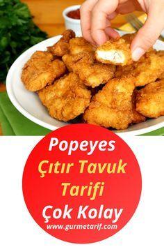 Popeyes Crispy Chicken Recipe (Same as the Original) - Gourmet Recipe - Beef Recipes Gourmet Recipes, Dinner Recipes, Dessert Recipes, Easy Recipes, Healthy Recipes, Gourmet Foods, Crispy Chicken Recipes, Recipe Chicken, Rotisserie Chicken