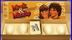 Vintage 1978 MORK & MINDY Card Game #4919 by Milton Bradley, Robin Williams