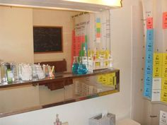 Chem lab.  Love the test tube/toothbrush holder.