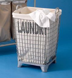 Restoration Hardware Laundry Basket (not in my price range - $ 149 - !! - but like the look)
