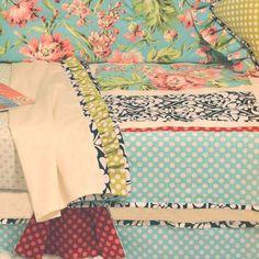 Flirty Floral Toddler Bedding