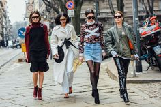 Giorgia Tordini, Gilda Ambrosio, Diletta Bonaiuti and Chiara Capitani | Fashionable Friends | Street Style | Photo: Tommy Ton