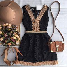 2015 moda outono nova mulher a - linha vestido elegante black lace vestido sem mangas casuais com decote em v tanque mini vestidos