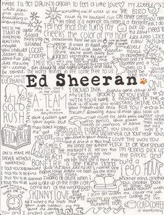 Based on his lyrics, I think Ed and I would get along fine.