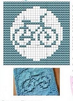 Bicycle Knit Dish cloths Pattern