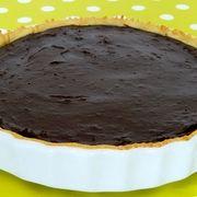 Un flan pâtissier au chocolat (avec vanille et 3 oeufs) Mmmm . . .