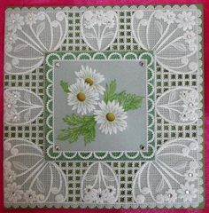 T T three daisy lovely borderTina Cox Parchment Cards, Crafts To Make, Make It Simple, Barbara Gray, Daisy, Projects To Try, Crafty, Pattern, Handmade