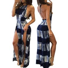Find More Jumpsuits Information about 2016 Fashion Rompers Women Jumpsuit Backless  Halter Bodysuits Summer Sexy…