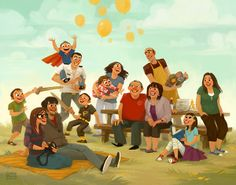 Had the privilege this past week of being commissioned to do an illustrated family portrait. Family Illustration, Portrait Illustration, Digital Illustration, Summer Family Pictures, Family Drawing, Family Picture Outfits, Cartoon Art, Family Portraits, Cute Art