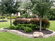 landscaping with large rocks   Habitats By Harper, LLC - Landscaping