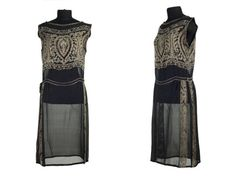 Silk gauze beaded gown, Shoe-Icons Museum, 1920s