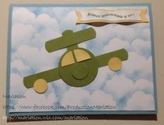 avion carte, stampin' up, scrapbooking, anniversaire, birthday card