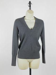 NEW Banana Republic Silk Cashmere Vneck Pullover Wear to Work Sweater Gray XS $16.99 Free Shipping #BananaRepublic #VNeckCashmere