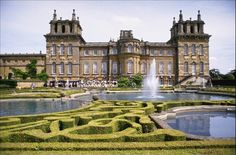 Blenheim Palace is a large country house in Oxfordshire, home to the 11th Duke of Marlborough and birthplace of Winston Churchill. It was built between 1705 and 1722 in the rare English baroque style and is today one of the largest houses in the country