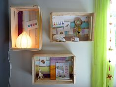 Fabriquer un meuble avec une cagette diy bricolage recyclage home rangem - Recyclage cagette bois ...