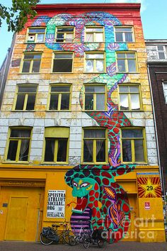 Amsterdam Snake Graffiti Mural