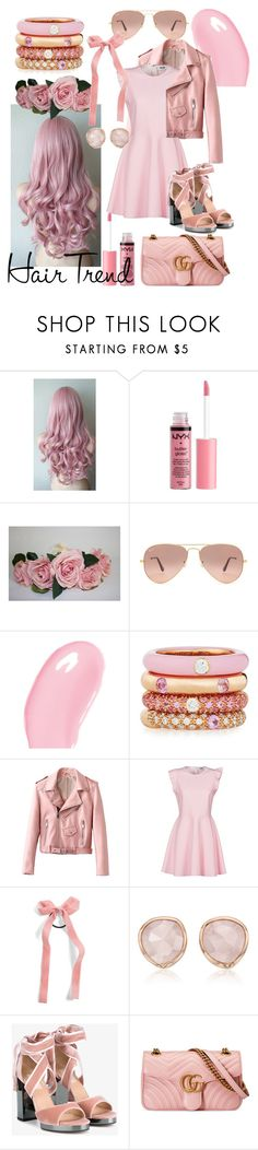 """Matchy Match Hair Contest"" by pearlumberger ❤ liked on Polyvore featuring beauty, Charlotte Russe, Ray-Ban, Christian Dior, Adolfo Courrier, MSGM, Cara, Monica Vinader, Valentino and Gucci"