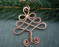 Celtic Tree Copper Wire Christmas Ornament  by nicholasandfelice, $ 15.50
