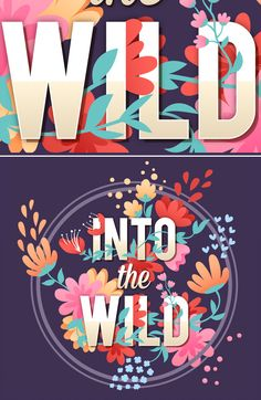 How to Create Vector Floral Typography in Adobe Illustrator .- How to Create Vector Floral Typography in Adobe Illustrator How to Create Vector Floral Typography in Adobe Illustrator - Logos Vintage, Logos Retro, Vintage Typography, Graphisches Design, Graphic Design Tutorials, Vector Design, Design Elements, Pattern Design, Logo Design