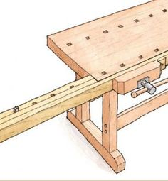 Download the FREE PLAN for this handy workbench extension. Drawings by Jim Richey - CLICK TO ENLARGE