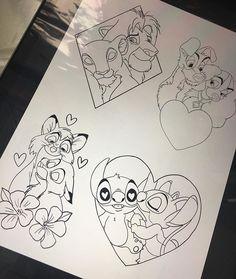 63 Ideas Tattoo Ideas Disney For 2019 Disney Kunst, Arte Disney, Disney Art, Disney Ideas, Easy Drawings, Tattoo Drawings, Disney Sleeve, Disney Coloring Pages, Doodle Art
