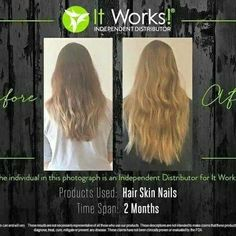 Her hair looks absolutely amazing!!  I am looking for 3 new hair models! Who wants stronger, longer hair?? At my 40% discount!!!!!!! Message me, comment below or text 360-772-8788......  Check out all of the Amazing products from IT WORKS at getfitwithdiamond. com