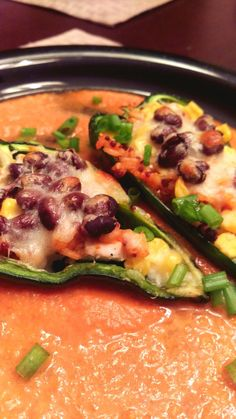 Southwestern Quinoa Stuffed Poblano Peppers  || Biscuits & Burlap