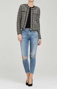41916b81c7c22 Rocket Crop High Rise Skinny in Distressed Fizzle Cropped Jeans
