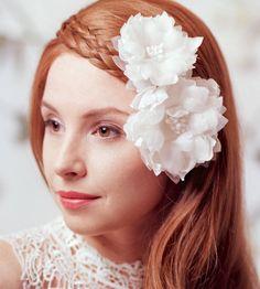 bridal silk flowers hair clip by lov lov | notonthehighstreet.com